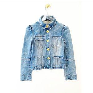 marc jacobs / blue denim jean button down jacket